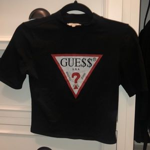 A$AP Rocky guess originals crop tee shirt